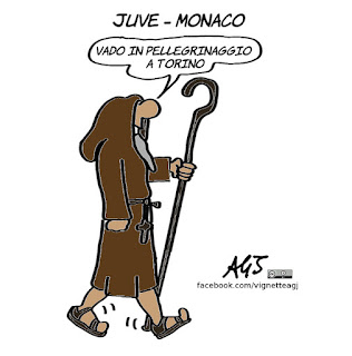 juventus, juve, monaco, champions league, calcio, sport, semifinali, vignetta, umorismo