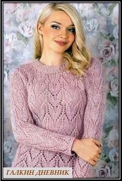 ajurnii pulover dlya jenschin