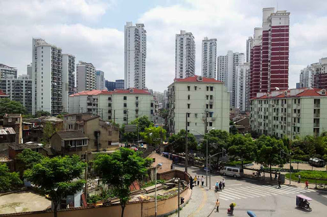 Contrastes en Shanghai