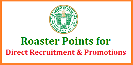 Roaster Points for Direct Recrutments and Promotions in Telangana TSPSC DSC TRT and promotions in all Departments of Telangana Government with cycle of 100 point roaster Telangana Teachers recruitment Test will be conducted by Telangana Public Service Commission shortly and Department wise Promotion Panels will be prepared by the HODs as per the 100 Points Roaster. This Roaster may effect Teachers Recruitment Process roaster-points-for-direct-recrutments-promotions-telangana-tspsc-dsc-trt