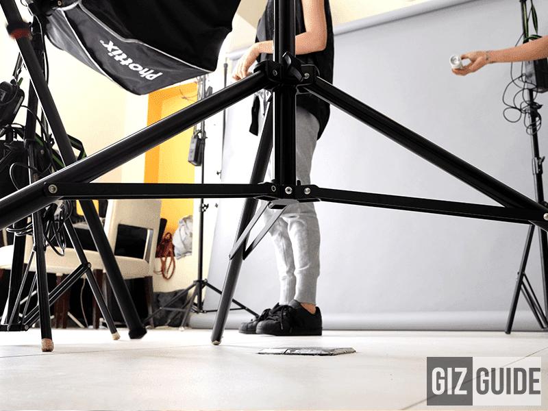 XF 23 f/2.0 studio set-up