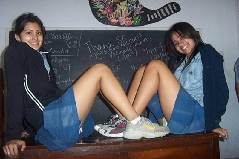 Upskirt girl school