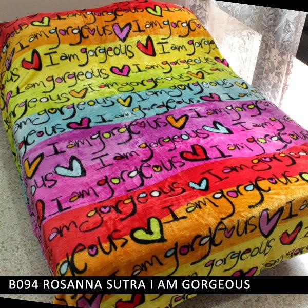 grosir selimut rosanna di surabaya, harga grosir selimut sutra rosanna