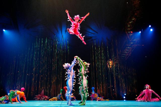 Maior numero de espetáculos do Cirque du Solei