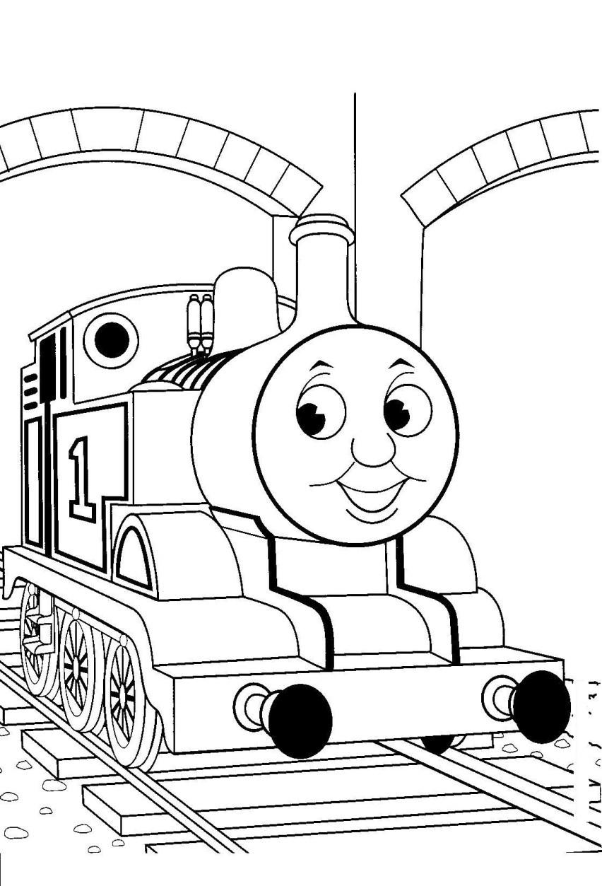 Mewarnai Gambar Kartun Thomas