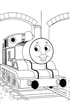 Gambar Mewarnai Thomas and Friends - 16