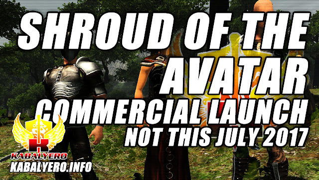 Shroud of the Avatar, Official Commercial Launch, Not July 2017