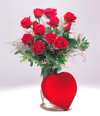 virtuelle Valentinsdag Blomster eCard
