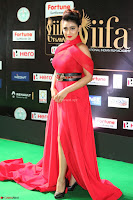 Apoorva in a Stunning Tight Leg Split Sleeveless Red Gown at IIFA Utsavam Awards 07.JPG