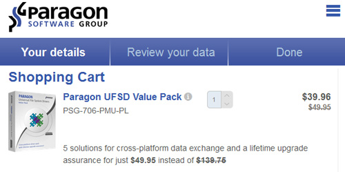 Paragon UFSD Value Pack Coupon