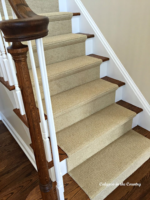 Sisal Look on Stairs - without the sisal-feel