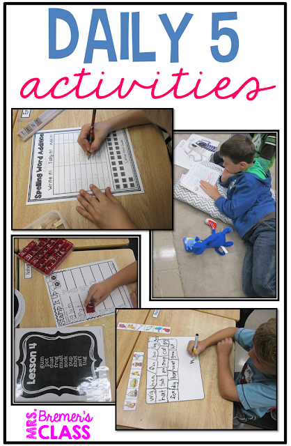 Fun Daily 5 activities for First Grade and Second Grade