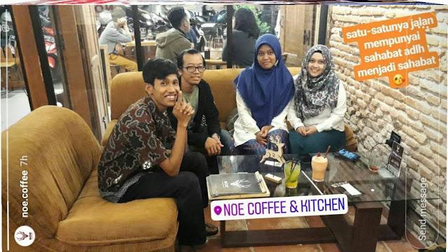 Insta Story dari akun Instagram Noe Coffee & Kitchen