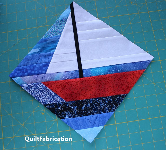 finished sailboat string block