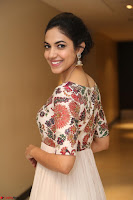 Ritu Varma smiling face Cream Anarkali dress at launch of OPPO New Selfie Camera F3 ~  Exclusive 075.JPG