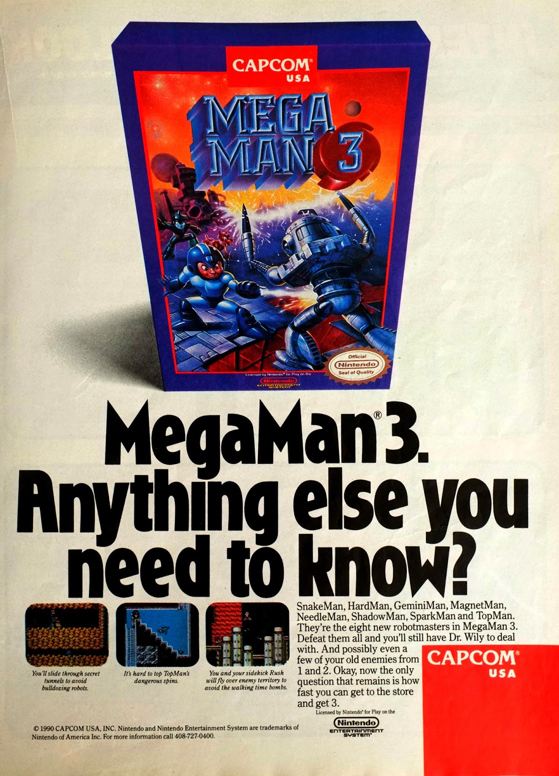 Mega Man 3 advertisment