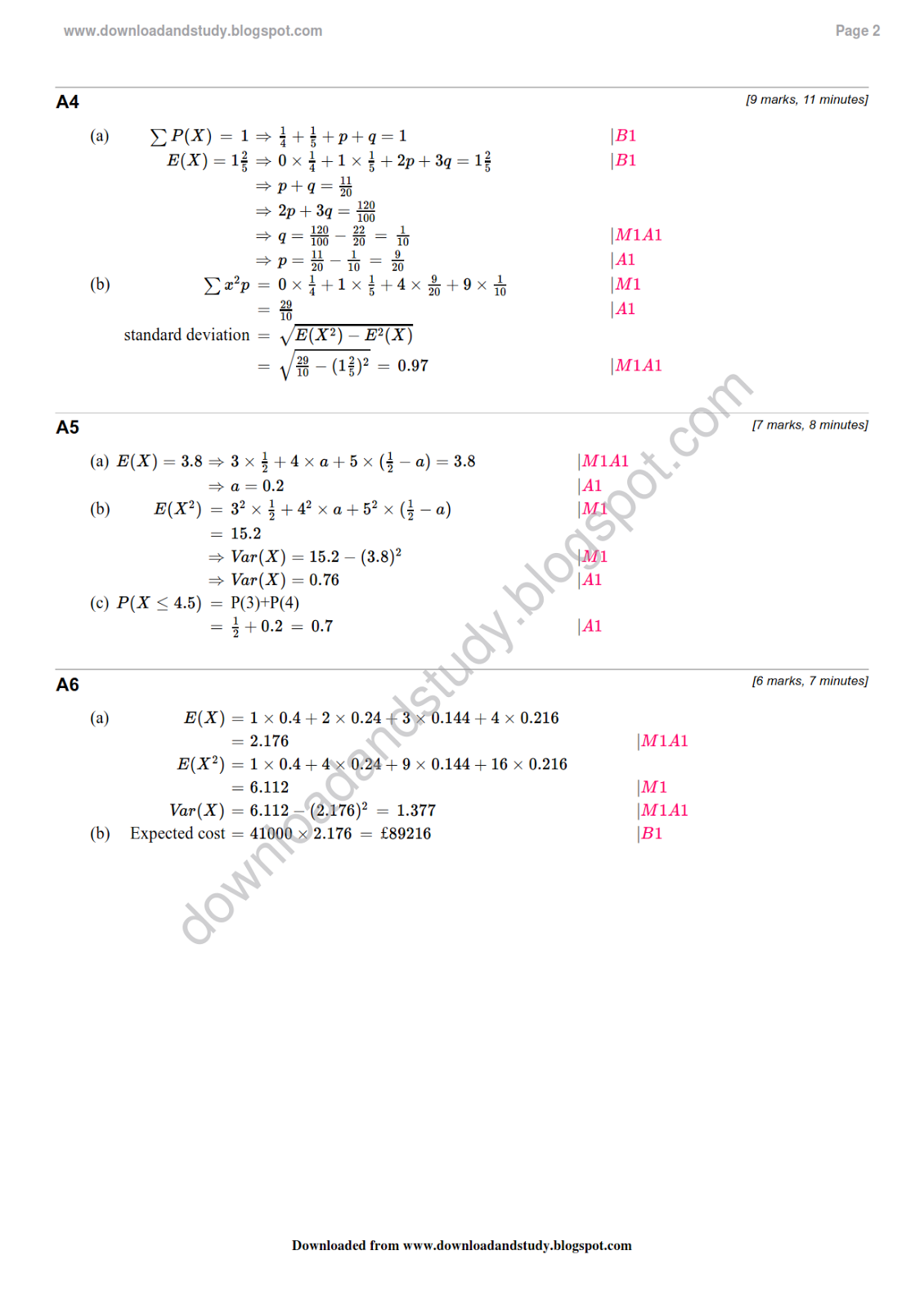 Download Amp Study Solution To As Statistics Probability