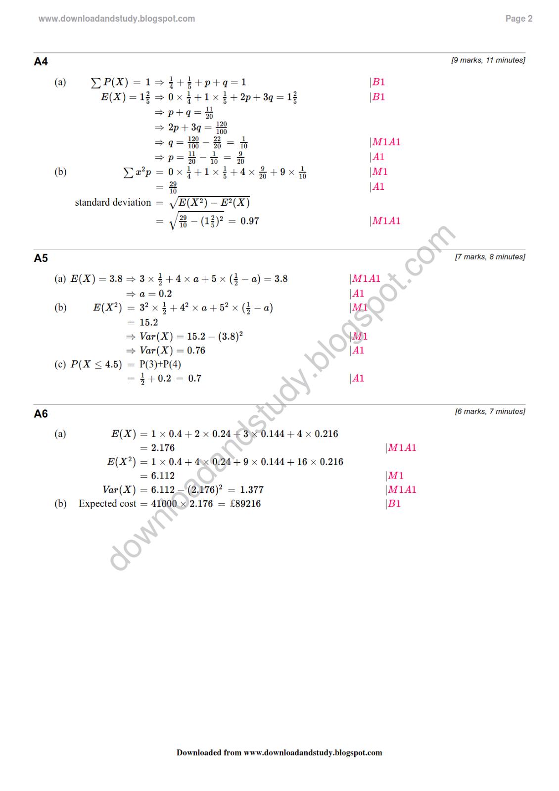 Worksheet Probability Doc