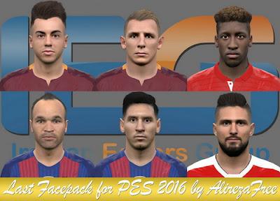 PES 2016 Last Facepack By Alireza Free