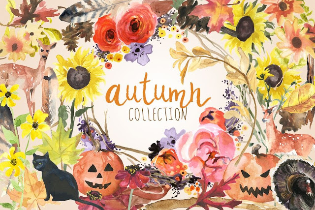 Silhouette, Silhouette Studio, watercolors, fall designs, fonts