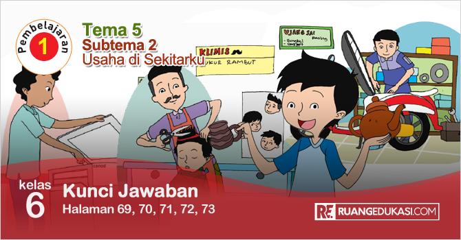 Kunci Jawaban Tematik Tema 5 Kelas 6 Halaman 69, 70, 71, 72, 73 Kurikulum 2013