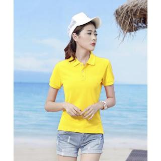 áo thun trơn màu vàng