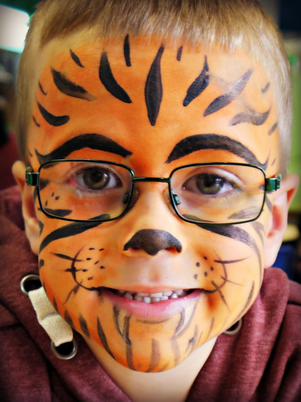 tiger, face paint, Eureka