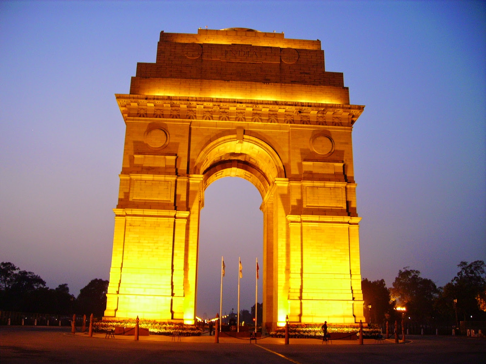 Night View of The India Gate, Delhi India