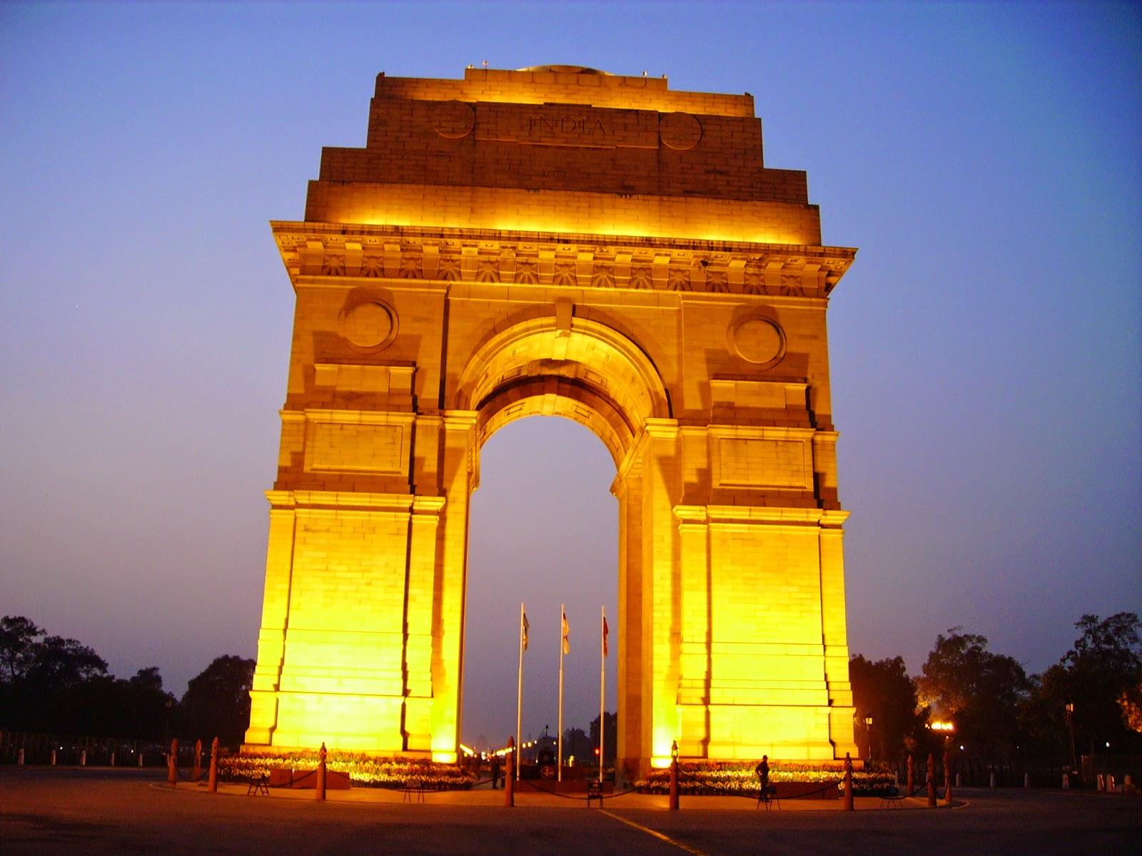 Night View of The India Gate, Delhi India
