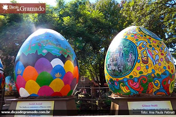 Ovos decorados por artistas gramadenses