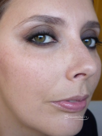 Yves Saint Laurent Gloss Volupté in Nude Carat #20 fotd worn on lips full face picture