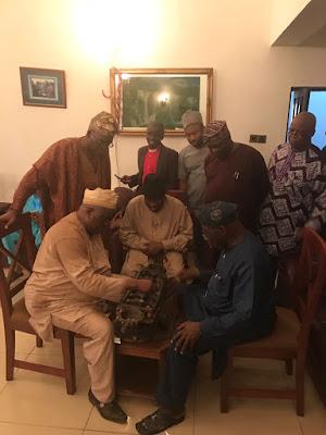 Tonto Dikeh's Husband Olakunle Churchill With Goodluck Jonathan And Obasanjo
