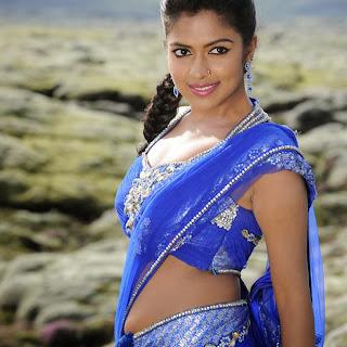 Actress Amala Paul Unseen Hot Blue Saree Navel Show S Gallery