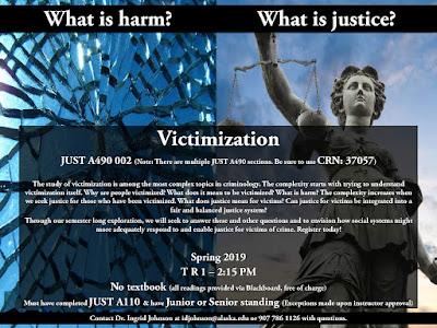 Victimization (JUSTA490-002) flyer