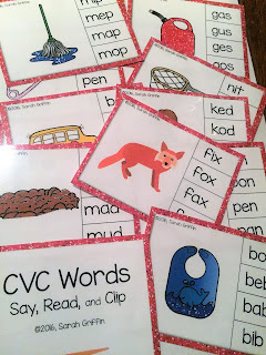 https://www.teacherspayteachers.com/Product/CVC-Words-Clip-It-Cards-Clothespin-Center-2895614