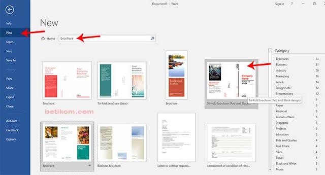 langkah-langkah membuat brosur