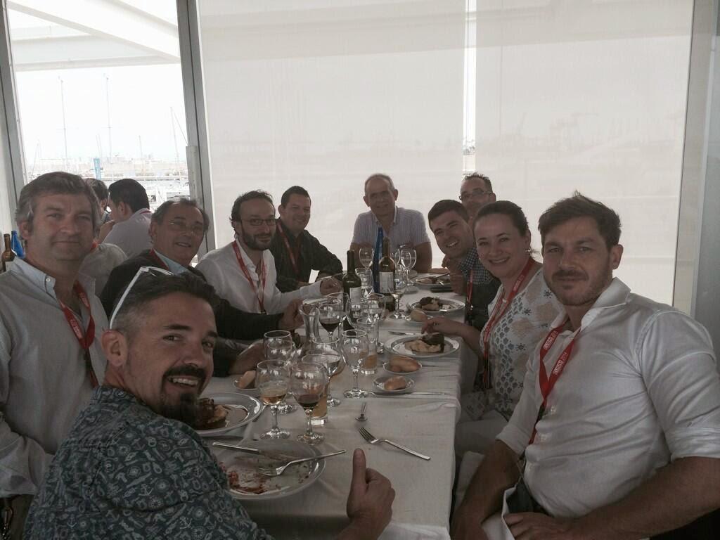 Comida del sábado en el puerto de Valencia