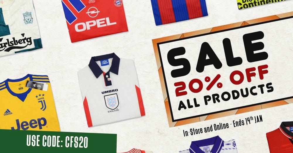 abe378efc1ff 20% Off Everything Using Code - Classic Football Shirts Celebrates New Year