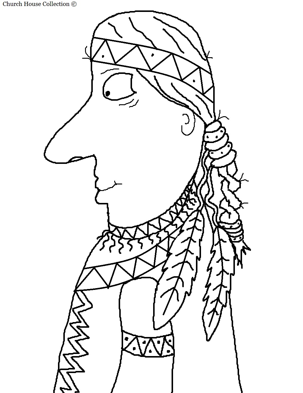 Church house collection blog free printable pilgrim for Indian coloring pages for thanksgiving
