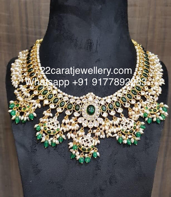 92.5 Silver Light Weight Green Stones Sets