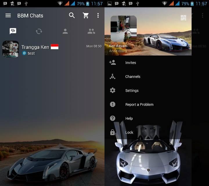 BBM MOD Mobil Sport versi 2.13.0.26 APK