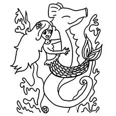 Seahorse Coloring Page 6