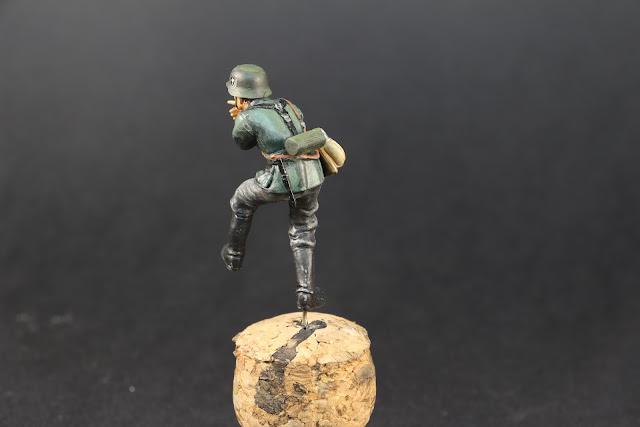Figurine de l'armée allemande de Tamiya au 1/35.