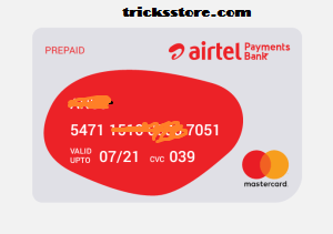 Here you virtual card looks like airtel money