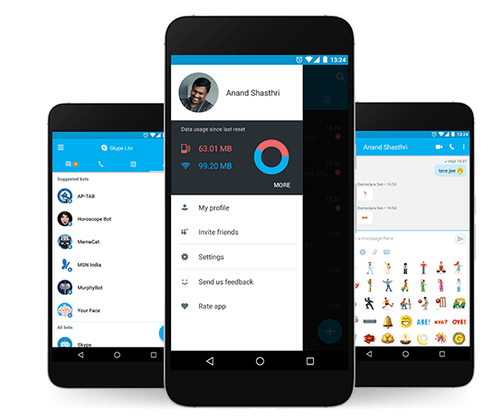 Skype Lite launched in India with Aadhaar Integration and optimized for 2G networks,supports 7 Indian languages