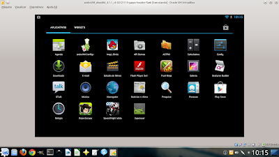 Android rodando no Virtual Box