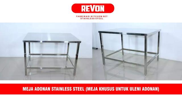 Meja Produksi Roti (Meja Dough Stainless Steel)