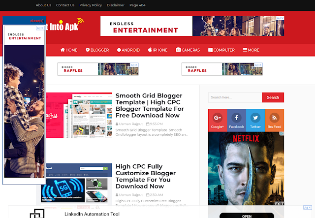 High CPC Free Blogger Template 2019