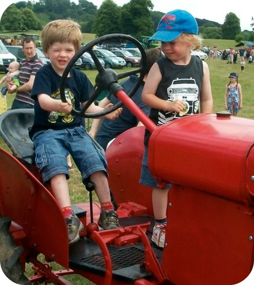 Tractor Ted Bouncy Castle Farm Show Boys Vintage Tractor
