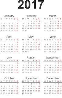 calendar 2017 printabil, calendare, poza calendar, calendar romanesc,
